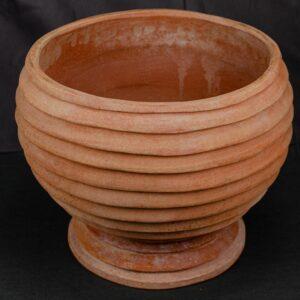 gestreifte Kugel Vase